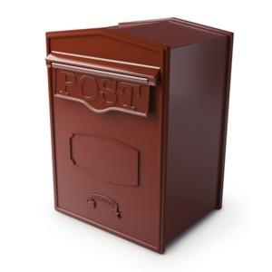 Burgundy Postbox