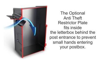 Rear Retrievel Letterbox Back Opening Letter Box Cast